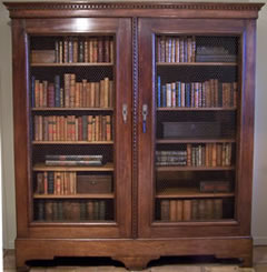 Engelse Boekenkast Glas.Antiek Encyclopedie Antiek Boekenkast Antieke Meubelen